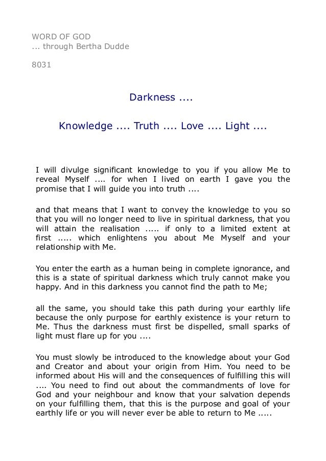 knowledge is light essay